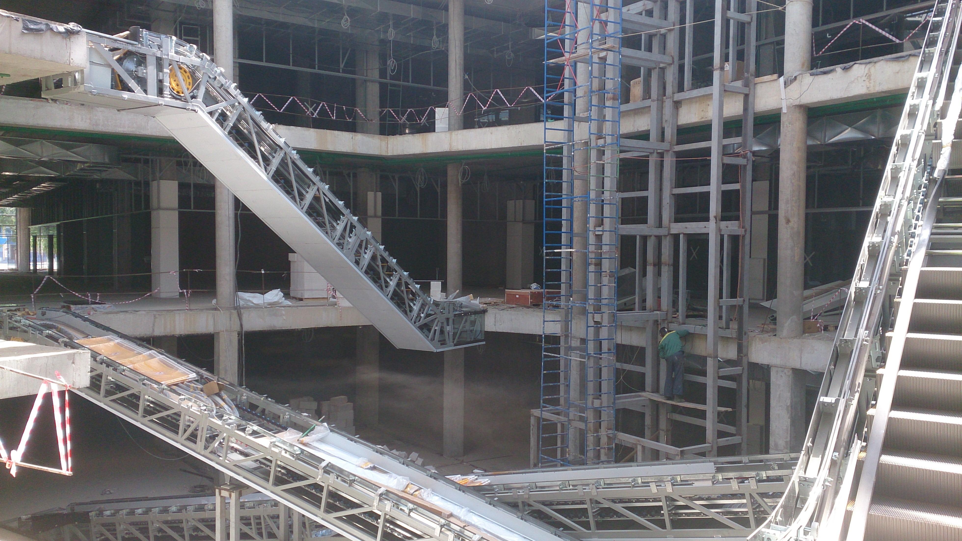Монтаж эскалаторов 1